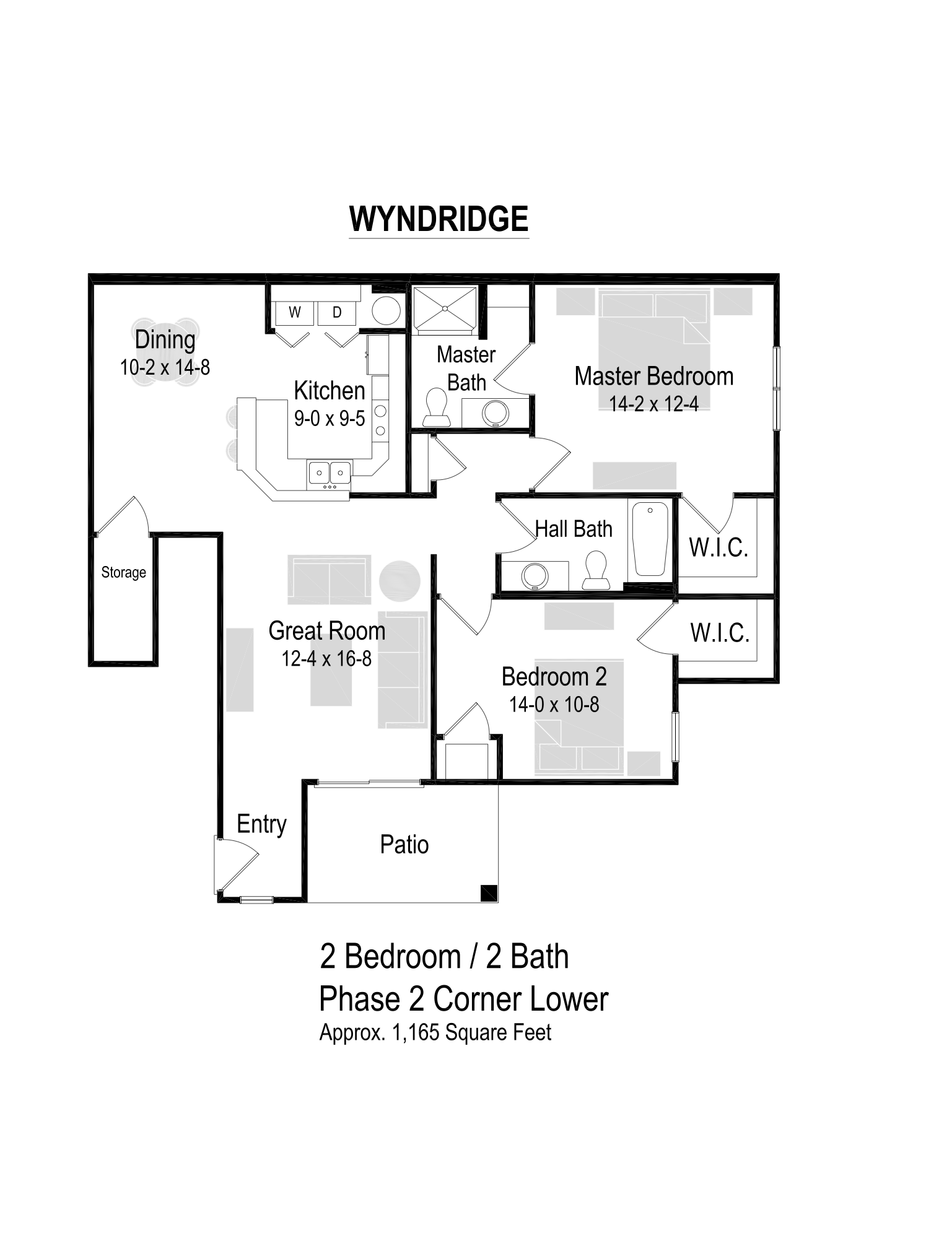1165 Sq. Ft. Floor Plan