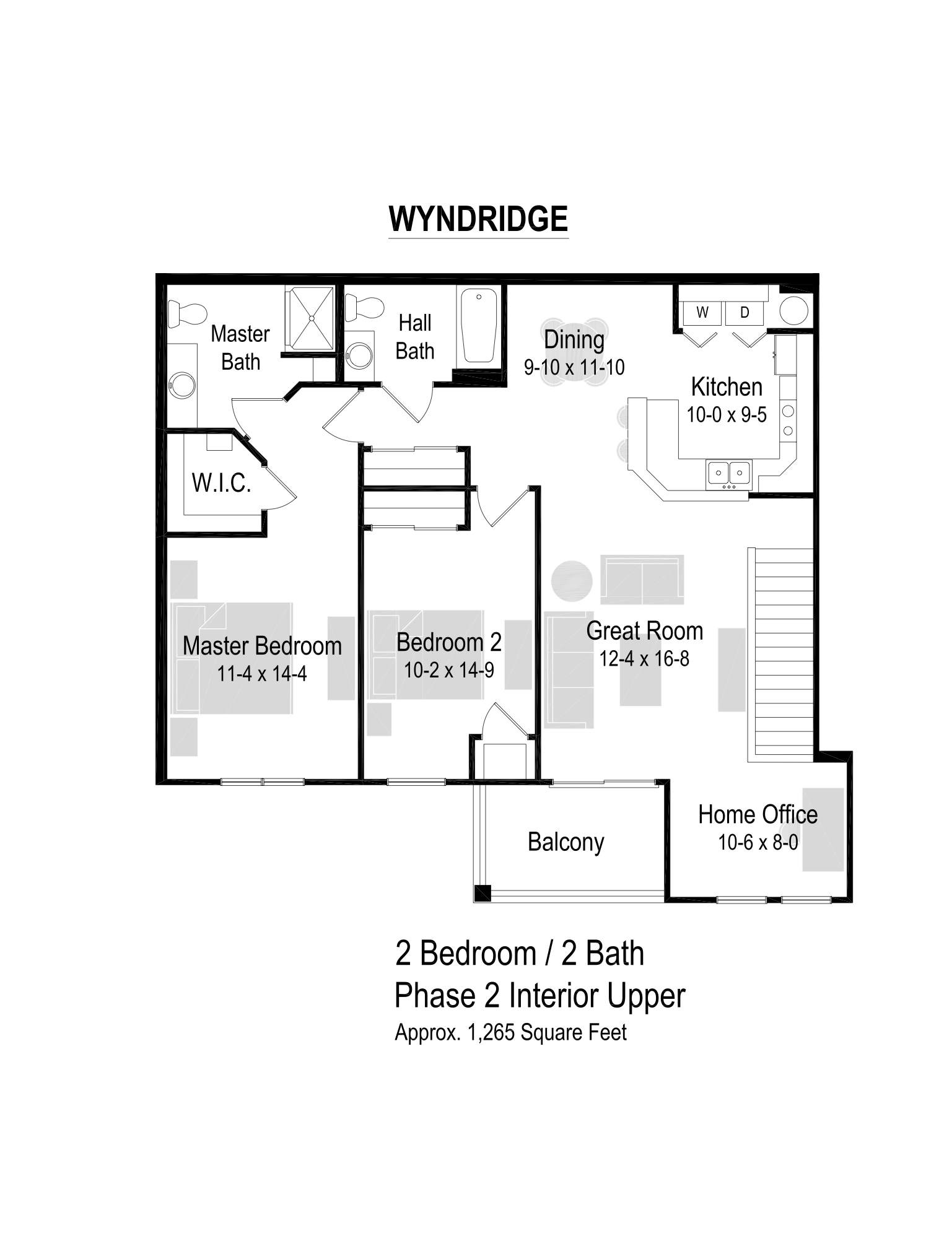 1265 Sq. Ft. Floor Plan
