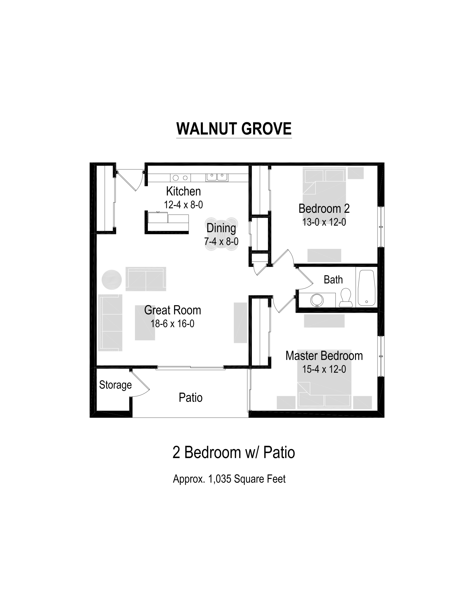 1035 Sq. Ft. Floor Plan